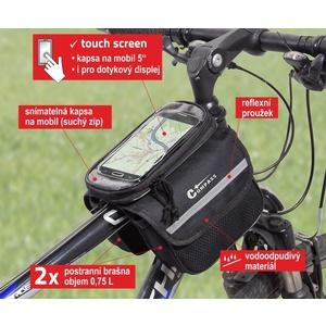 Cyklotaška nad rám oboustranná + PHONE Compass, Compass
