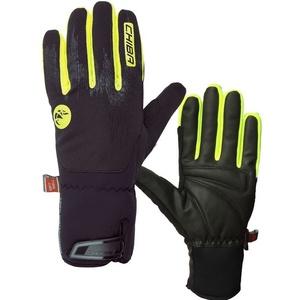 Zimní rukavice Chiba Dry Star Superlight, černá-reflexní žlutá, Rogelli