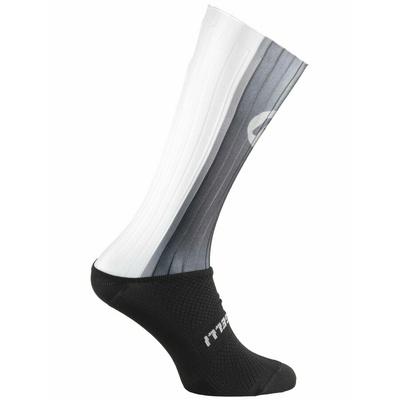 Aerodynamické funkční ponožky Rogelli AERO, černo-šedá-bílé 007.003, Rogelli