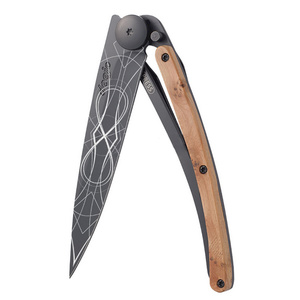 Kapesní nůž Deejo 1GB126 Tattoo infinite, black, 37g, exotický jalovec, Deejo