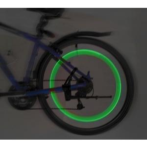Svítící ventilek na kolo LED 2ks Compass Green, Compass