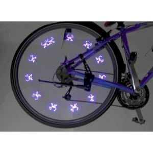 Svítící ventilek na kolo 7LED 2ks Compass Blue, Compass