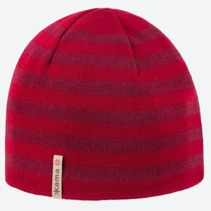 Pletená Merino čepice Kama A122 104 červená, Kama