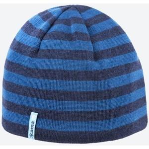 Pletená Merino čepice Kama A122 108 tmavě modrá, Kama