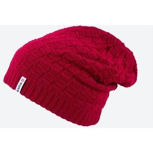 Pletená Merino čepice Kama A123 104 červená, Kama