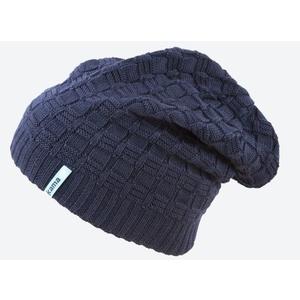 Pletená Merino čepice Kama A123 108 tmavě modrá, Kama