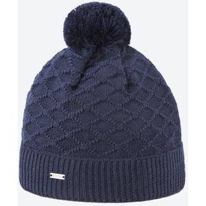 Pletená Merino čepice Kama A124 108 tmavě modrá, Kama