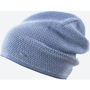 Pletená Merino čepice Kama A125 107 světle modrá, Kama