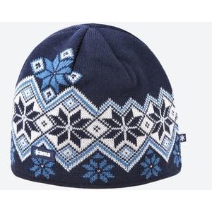 Pletená Merino čepice Kama A127 108 tmavě modrá, Kama