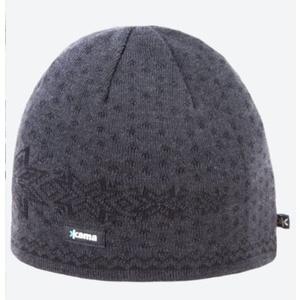 Pletená Merino čepice Kama A128 111 tmavě šedá