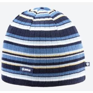 Pletená Merino čepice Kama A129 108 tmavě modrá, Kama