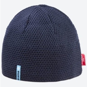 Pletená Merino čepice Kama AW62 108 tmavě modrá, Kama