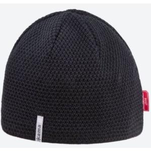 Pletená Merino čepice Kama AW62 110 černá