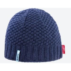 Pletená Merino čepice Kama AW63 108 tmavě modrá, Kama