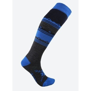 Pletené Merino podkolenky Kama F03 108 tmavě modrá, Kama