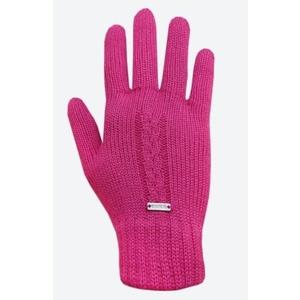 Pletené Merino rukavice Kama R103 114 růžová, Kama