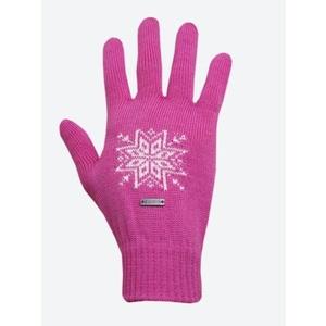 Pletené Merino rukavice Kama R104 114 růžová, Kama