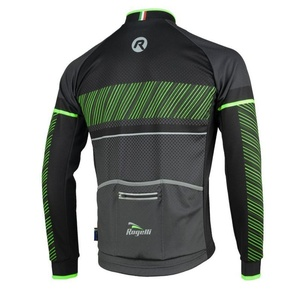 Cyklodres Rogelli RITMO s dlouhým rukávem, 001.256. černo-zelený, Rogelli