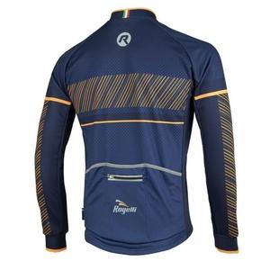 Cyklodres Rogelli RITMO s dlouhým rukávem, 001.257. modro-oranžový, Rogelli