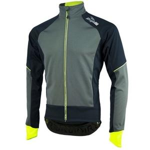Pánská softshellová bunda Rogelli TRANI 4.0, 003.121. černo-reflexní žlutá, Rogelli