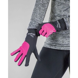 Dámské běžecké zimní rukavice Rogelli Touch, 890.004. černé-reflexní růžové, Rogelli