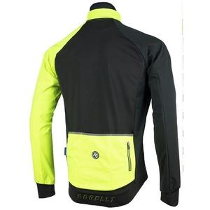 Pánská softshellová bunda Rogelli Contento, 003.140 černá-reflexní žlutá, Rogelli