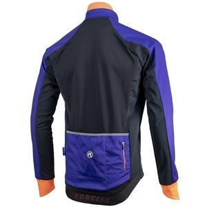 Pánská softshellová bunda Rogelli Contento, 003.141 modro-černo-oranžová, Rogelli