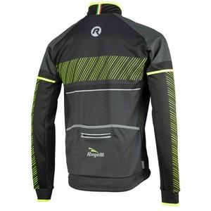 Pánská softshellová bunda Rogelli Ritmo, 003.255. černo-reflexní žlutá, Rogelli