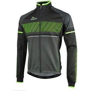 Pánská softshellová bunda Rogelli Ritmo, 003.256. černo-zelená, Rogelli