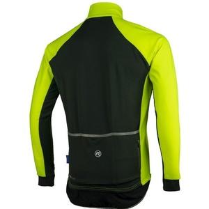 Pánský cyklistický dres Rogelli All Seasons, 004.024. reflexní žluto-černý, Rogelli