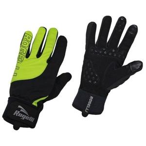Pánské cyklistické rukavice Rogelli Storm, 006.125. černé-reflexní žluté, Rogelli