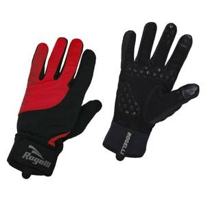Pánské cyklistické rukavice Rogelli Storm, 006.126. černé-červené, Rogelli