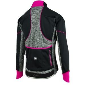 Dámská cyklistická bunda Rogelli Carlyn 2.0, 010.306. černo-šedo-růžová, Rogelli