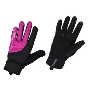 Dámské cyklistické rukavice Rogelli Storm, 010.656. černo-růžové, Rogelli