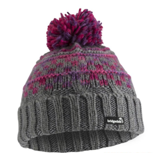 Čepice Bridgedale Pompom charcoal/purple/0043, bridgedale