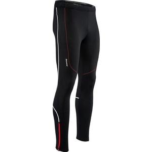 Pánské elastické zateplené kalhoty Silvini RUBENZA MP1313 black red, Silvini