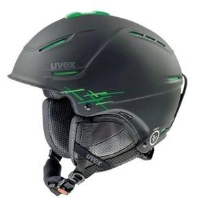 Lyžařská helma UVEX P1US PRO, black-green mat (S566156270*) , Uvex
