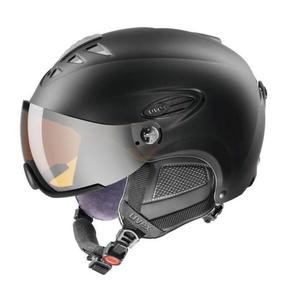 Lyžařská helma UVEX HLMT 300 VISOR, black mat (S566162220*) , Uvex