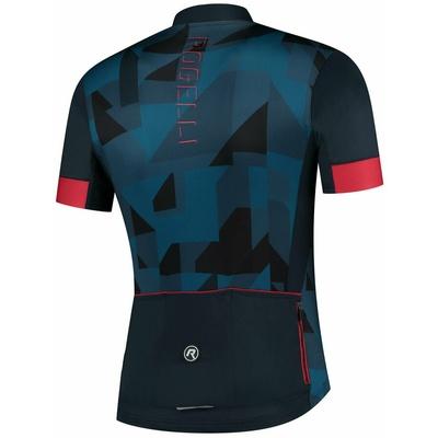 Cyklodres Rogelli BRISK s krátkým rukávem, modro-černo-červený 001.024, Rogelli
