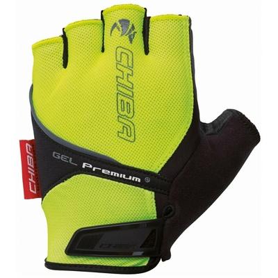 Cyklo rukavice Chiba GEL PREMIUM s gelovou dlaní, reflexní žluté 30117.03-1, Chiba