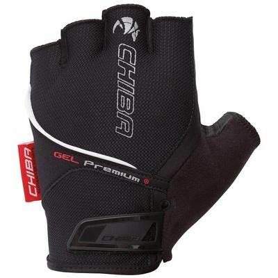 Cyklo rukavice Chiba GEL PREMIUM s gelovou dlaní, černé 30117.10, Chiba