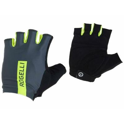 Cyklistické rukavice Rogelli PACE, šedo-reflexní žluté 006.382, Rogelli