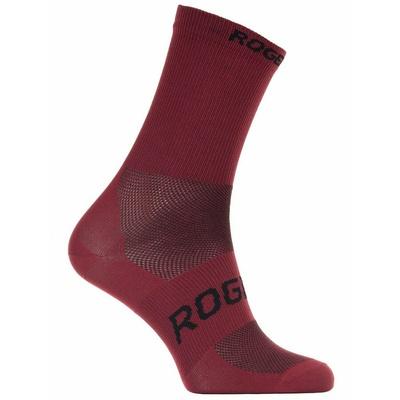 Antibakteriální ponožky Rogelli SUNSHINE 08 s mírnou kompresí, vínové 007.143, Rogelli
