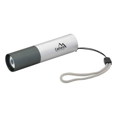 Svítilna kapesní LED Cattara 120lm ZOOM nabíjecí SILVER, Cattara