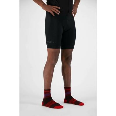 Designové funkční ponožky Rogelli STRIPE, červeno-vínovo-fialové 007.206, Rogelli