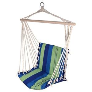 Houpací síť k sezení Cattara Hammock Chair modro-zelená, Cattara