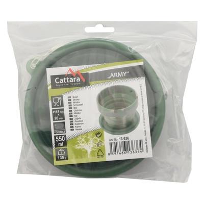 Silikonová skládací miska Cattara ARMY 550ml, Cattara