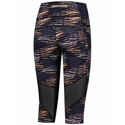 Dámské běžecké 3/4 kraťasy Rogelli INDIGO, fialovo-oranžovo-černé 840.719, Rogelli