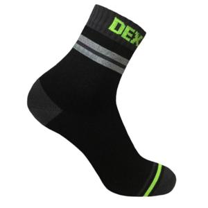 Ponožky DexShell Pro Visibility Cycling Sock Grey stripe, DexShell
