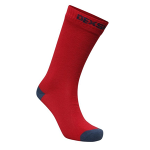 Ponožky DexShell Ultra Thin Crew Socks Red/Navy, DexShell